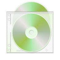 afbeelding van een plastic sleeve/hoesje met ringmapgaatjes of binderholes