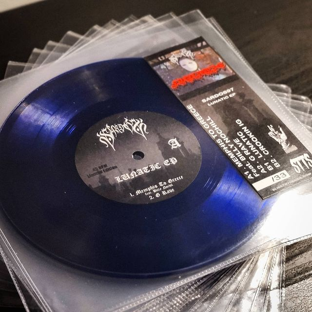 Blauwe 7 inch Vinyl
